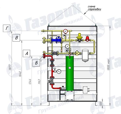Схема трубопроводной обвязки Propan 1-1-160