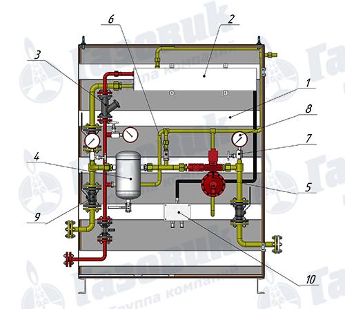 Комплектация электрического испарителя PROPAN-1-1-40