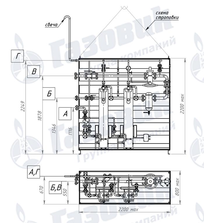Чертеж трубопроводной обвязки испарительной установки Propan 1-1-640