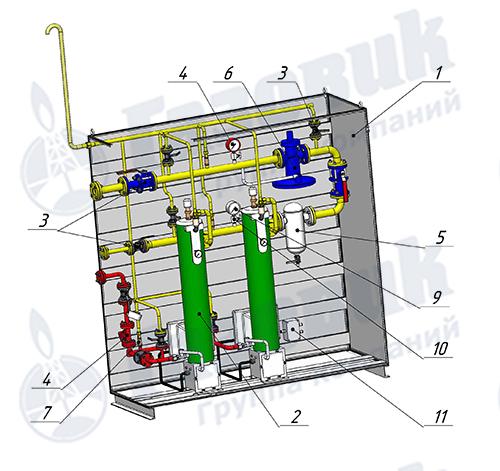 Комлект поставки испарительной установки Propan 1-1-640